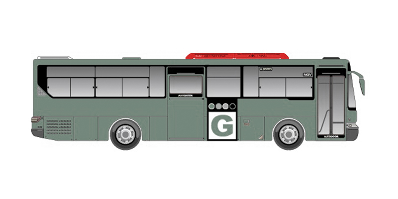 Bus air conditional cover