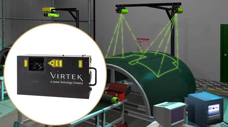 laser projector virtek